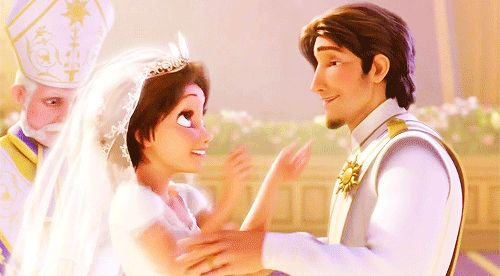 It's safe to Rapunzel and Flynn/Eugene had the loveliest wedding, despite the Maximus-Pascal ring hiccup. | 19 Reasons Rapunzel And Flynn Rider Are The Best Disney Couple