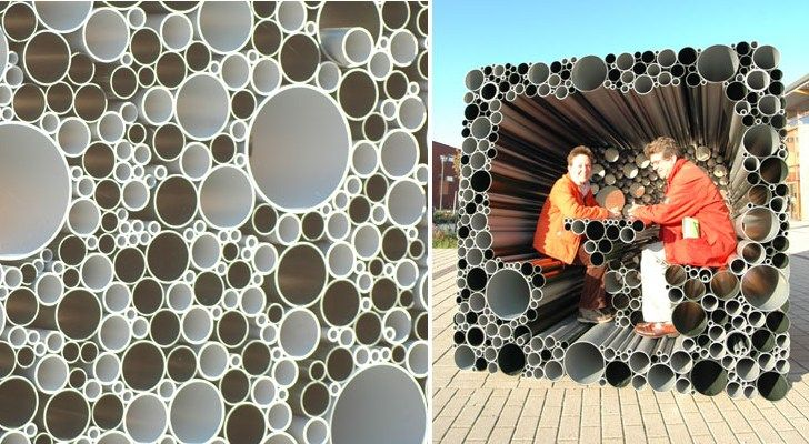 Architecture reuse, Green Building, green pavillion, Hoogte twee, pipe pavilion, pipe pavillion, PVC pipe reuse, Recycled Materials, reused, reused pipe project