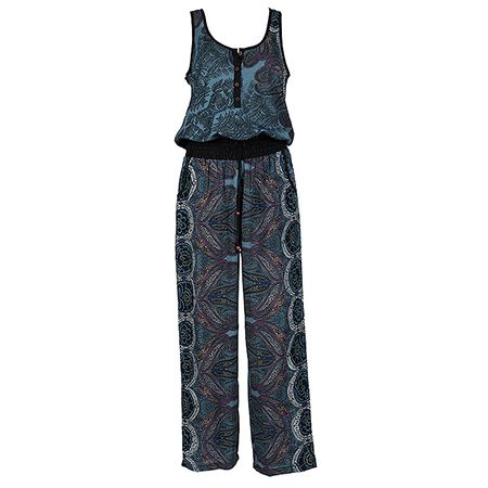 Be Boho and free with your stylish jumpsuit!   #achilleas_accessories #boho #ethnic #printed #style #blue #shopping