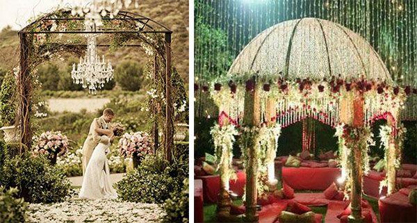 Романтичные свадебные беседки
