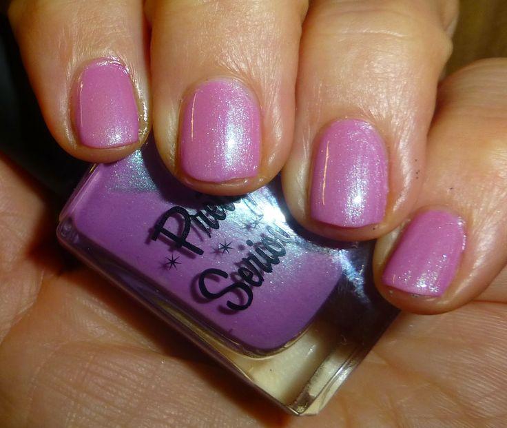 NOTD nail polish- Pretty Serious CGA pink mauve