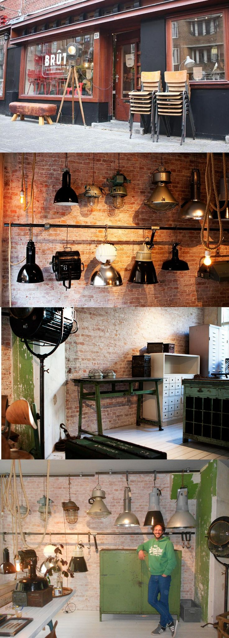 Brut, a furniture store in Amsterdam with industrial vintage products (witte de withstraat 126) http://www.brutamsterdam.nl/