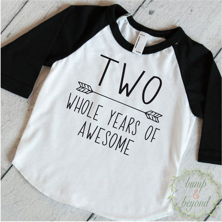 Second Birthday Boy Shirt, Two Whole Years of Awesome - This second birthday shirt is perfect for your little one's birthday party or all year round! We at Bump and Beyond Designs love to help you cel