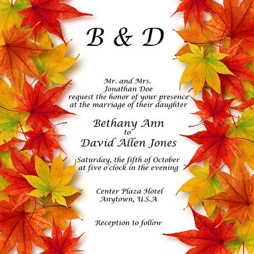 Take a look at these wedding stationery printing ideas for fall and be inspired to make something beautiful for an autumn bride.
