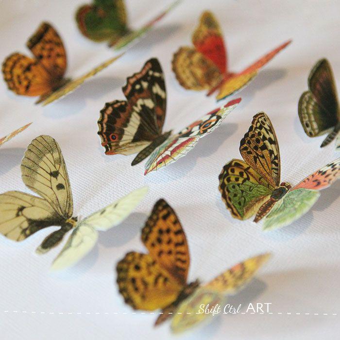 Vegan butterfly framed art - Mothers day DIY idea - including printable
