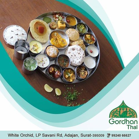 There's nothing quite like sitting around with friends or family having great conversations over a delicious meal. Get the perfect food at one of the best Gujarati restaurants of Surat - #GordhanThal #restaurantsinsurat #bestrestaurantinsurat #tastydishes #cuisines #goodambience #food #healthyfood #event #occasion #lovedones #bestambience #gujaratirestaurantinsurat #gujaraticuisine #gujaratirestaurant