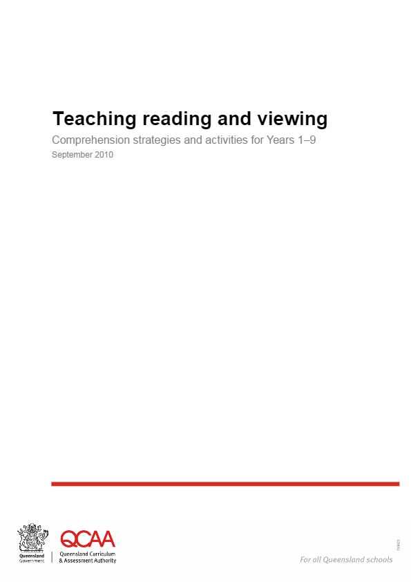 Teaching reading and viewing - Comprehension strategies and activities for Years 1–9