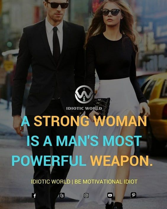 """55 Likes, 5 Comments - Idiotic World (@idiotic.world) on Instagram: """"Woman is Power of Man ✌️ -- For More Quotes Follow @idiotic.world ✌️ -- #money #motivation…"""""""