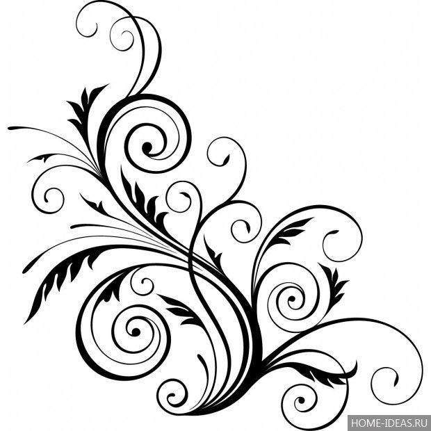 الإستنسل Khokhloma لقطع الورق للطباعة افعل ذلك بنفسك زخرفة الاستنسل الجدار تعليمات خطوة بخطوة Floral Pattern Design Art Clipart Wall Stencil Patterns