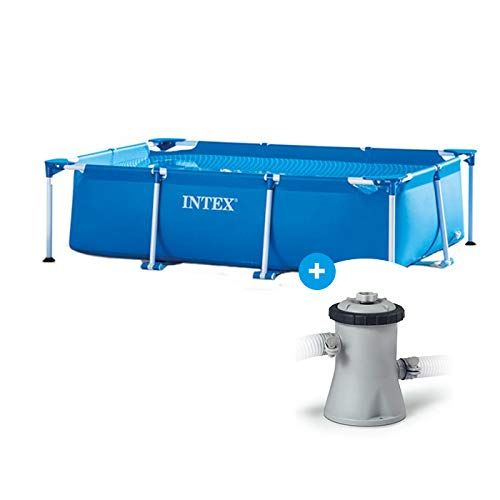 Raviday Pack Piscine Tubulaire Intex Metal Frame Junior 2 20 X