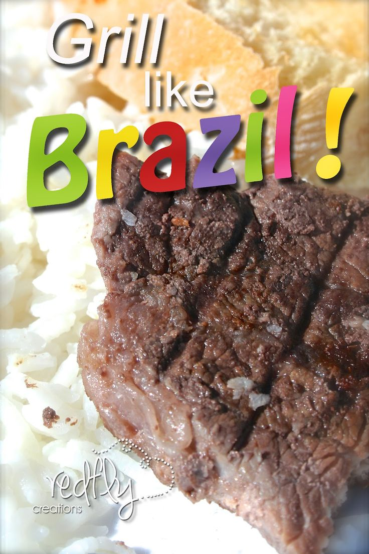 Redfly Creations: How to make Brazilian Churrasco. I added a lot to the marinade-orange slices, red onion, beer, and peppercorns.