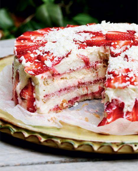 Jordbærlagkage - Gastro