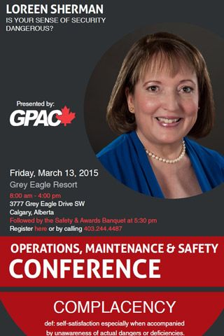 2015-03-13-GPAC-Complacency-conference-Loreen Sherman