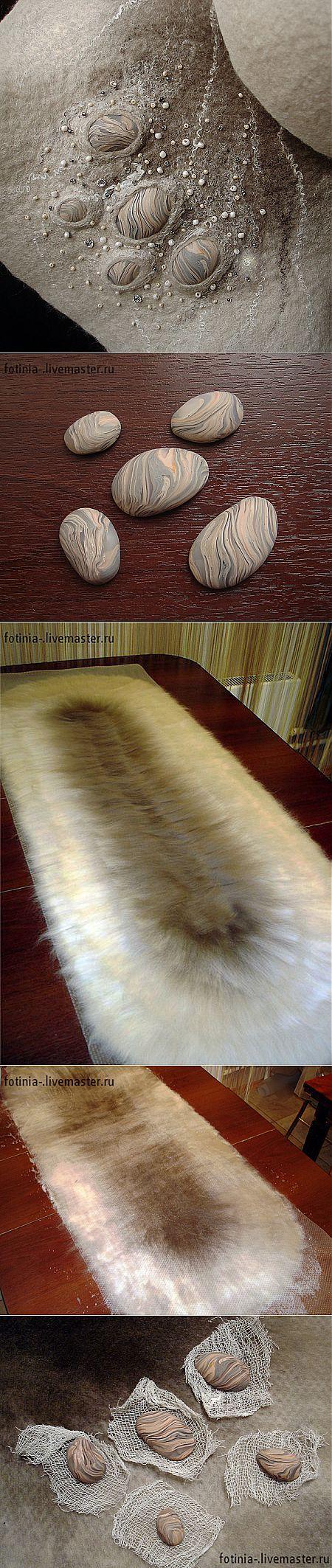 Как ввалять элементы из полимерной глины в шерсть...♥ Deniz ♥