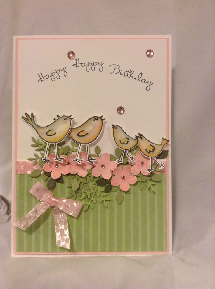 Catscardsnstuff I had a store bought card I recycled and took the inspiration and colour from it to make this card for my sister-in-law's birthday. one of a kind!