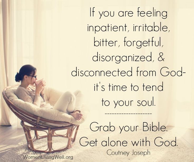 It's in times of solitude that God refuels us and we can hear His voice. In our restful times we can find order in the midst of chaos and connect with our Creator. Are you getting enough alone time with God?
