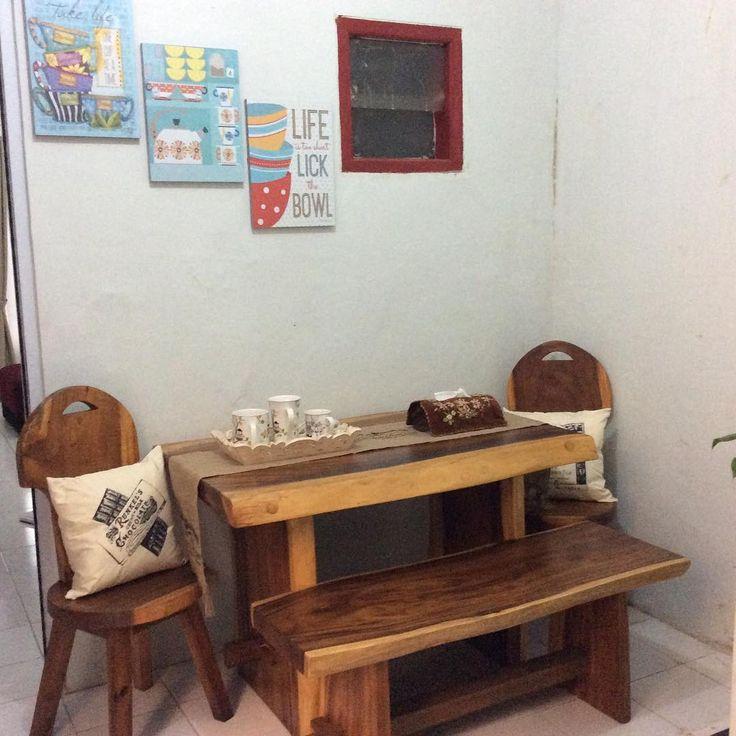 Ruang Makan Minimalis Sederhana Kayu Jati Terbaru 2017