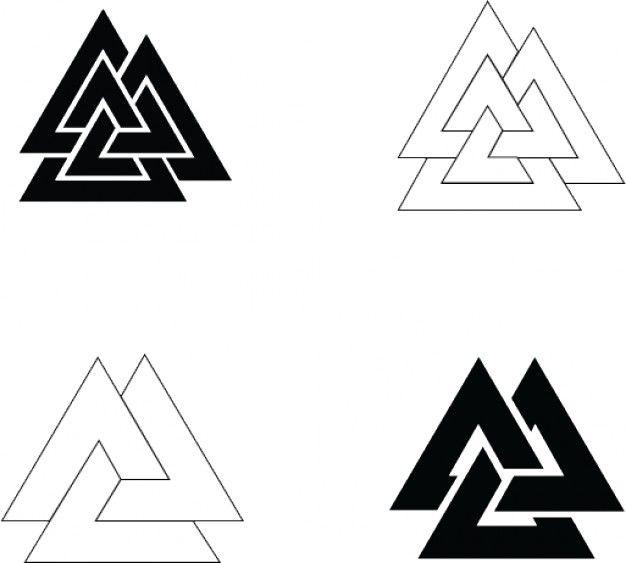simbolo valknut semplici disegni vettoriali Vettore gratuito