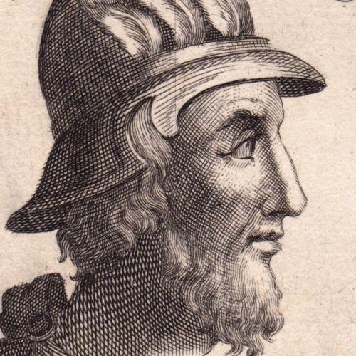 Portrait-XVIIIe-Darius-III-Codoman-Roi-Achemenide-Empire-Perse