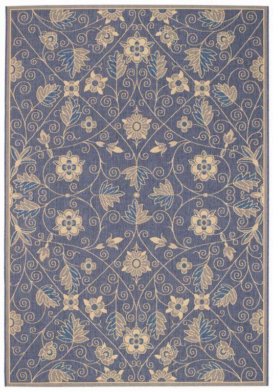 Capel Elsinore Garden Maze 450 Blue Area Rug   Bold Rugs
