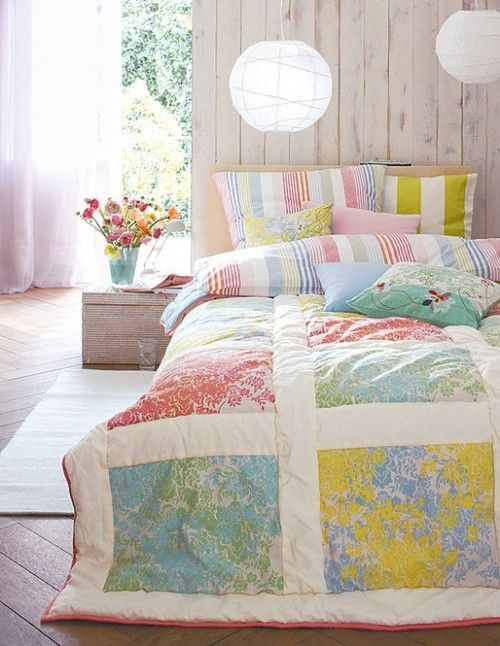 vintage sheets - Easy quilt and I'm sure I could make it a duvet cover too.