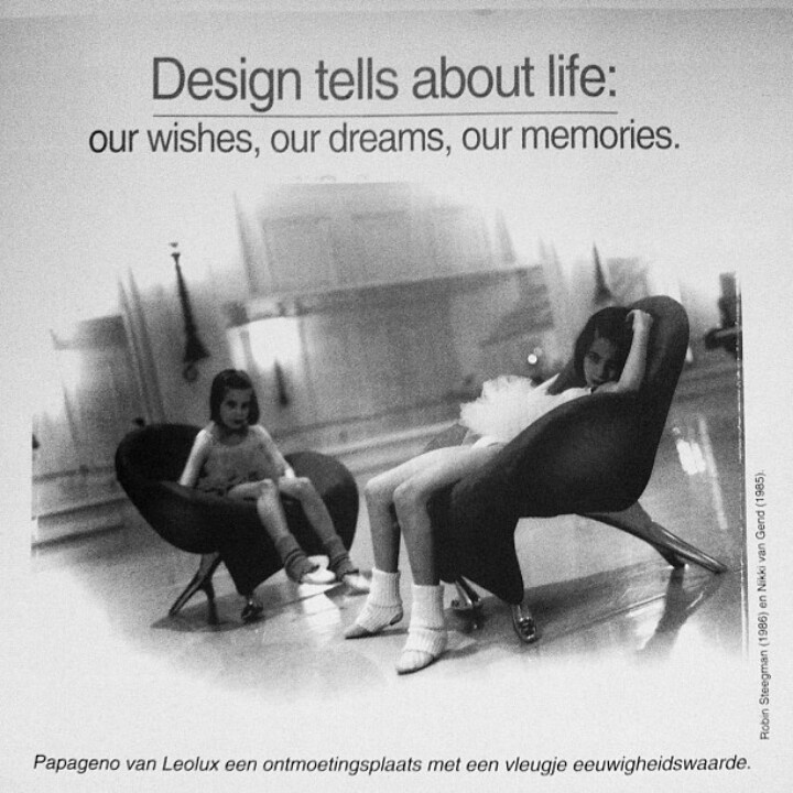 Great Ad by Leolux.nl from 1995.... :-) Chair Papageno