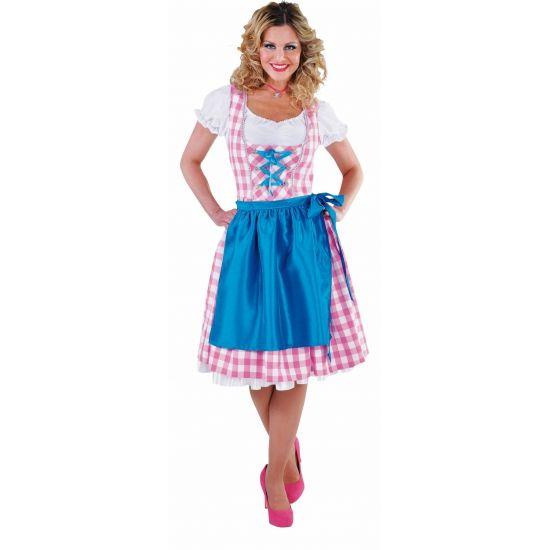 Luxe Oktoberfest dirndl roze voor dames  Luxe dirndl voor dames. Driedelige luxe dirndl in de kleur roze. Bestaande uit de jurk in de kleur roze blouse in de kleur wit en schort in de kleur blauw.  EUR 59.99  Meer informatie