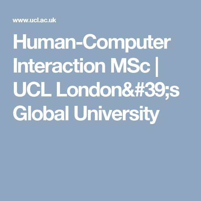Human-Computer Interaction MSc | UCL London's Global University