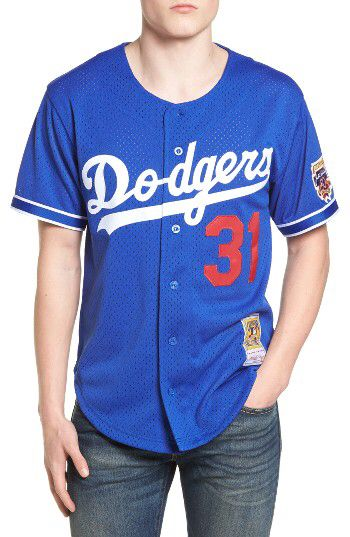 Check out the Mitchell & Ness Mike Piazza - Los Angeles Dodgers Authentic Mesh Jersey from Nordstrom: http://shop.nordstrom.com/S/4579385