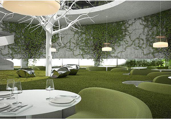 restaurant design: tea garden restaurant conceptsergey makhno