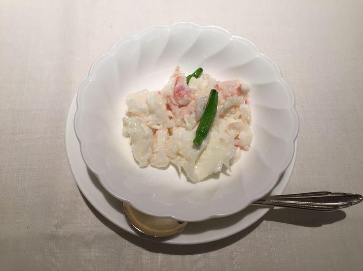 タラバ蟹と卵白の炒め@帝国ホテル北京