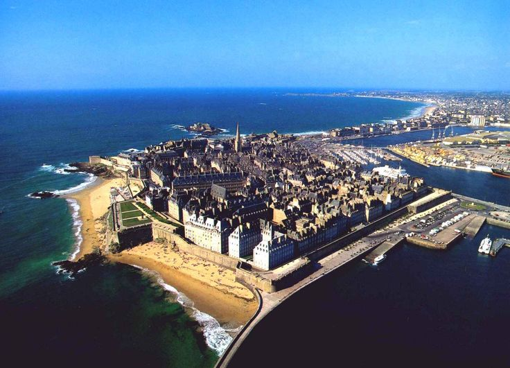 St. Malo, France. An old pirate town, au Bretagne, which is fortified; has a wonderful European feel. It is opposite Dinard. These two cities are great places to experience Northern France.