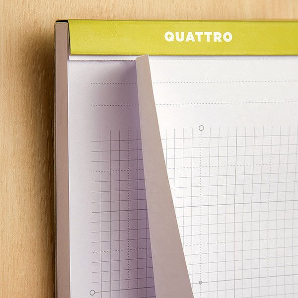 Quattro Artist Journals - Notebooks with Perforated Blank and Gridded Paper