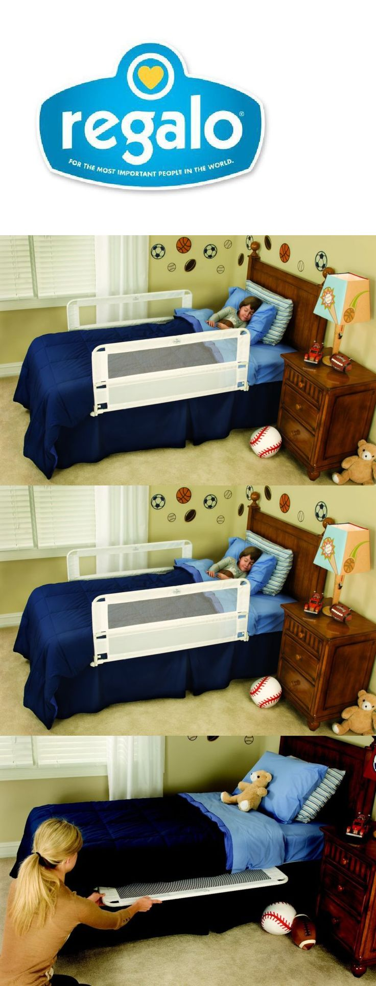 Bed Rails 162183: White Double Sided Safety Bed Rail Guard For Infants Toddlers Kids Bedroom -> BUY IT NOW ONLY: $53.51 on eBay!