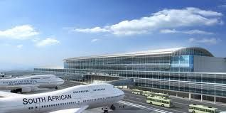A South African's Airline's Plane going to be take-off from Johannesburg Airport, South Africa.