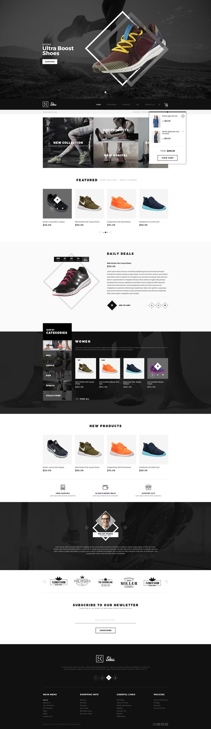 Bold & Unique design SKU is not only designed with unique & modern design but also built based on MGS Frontend builder theme and tons of useful extensions. So, SKU certainly meets & fits any kind of e-commerce websites which you can think of. #magento #template #theme #fashion #multipurpose #shop #shoes #accessories #unique http://themeforest.net/item/sku-multipurpose-magento-theme/14001777?ref=4mua