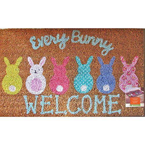 Sonoma Easter Every Bunny Welcome Natural Coir Fiber