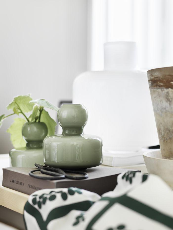 Marimekko's olive green Flower vase