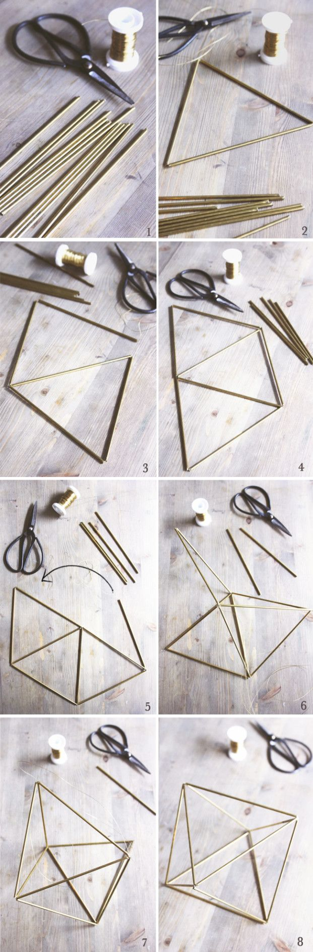 The bride barefoot - DiY - Realize a brass Himmeli