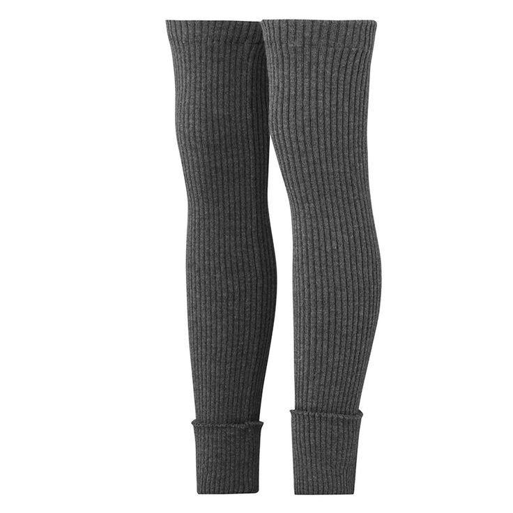 Nostebarn Ribbed organic long woollen leg warmers for adults