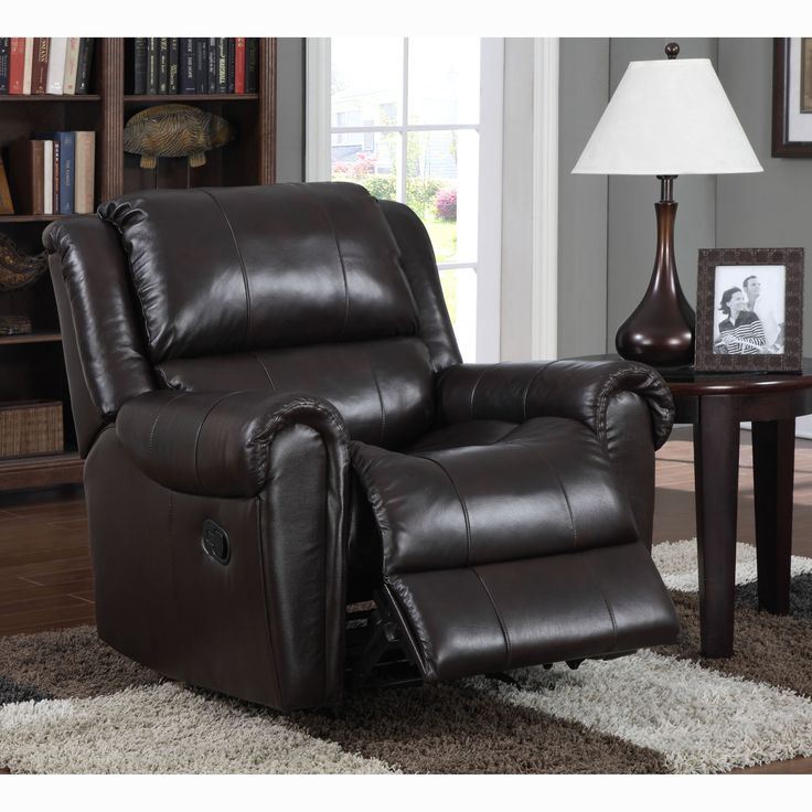 Brody Italian Leather Rocker Recliner Chair