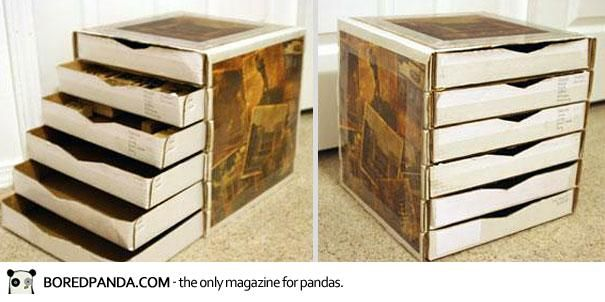 Build A Cardboard Chest Of Drawers Woodworking Projects