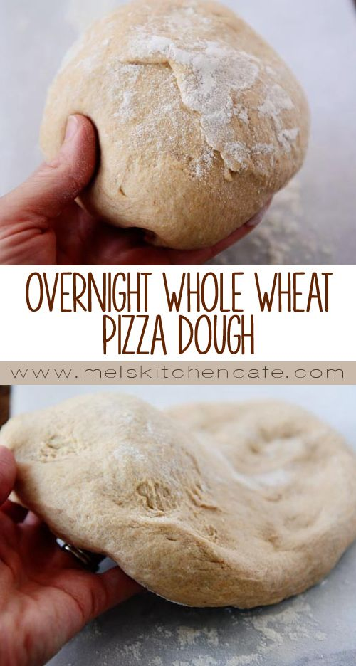 This Overnight Whole Wheat Pizza Dough is a delicious way to make pizza night a little bit healthier!