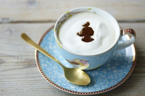 PIP Studio 'Early Bird' Cappuccino Cup and Saucer Blue - Cadeaux.ie