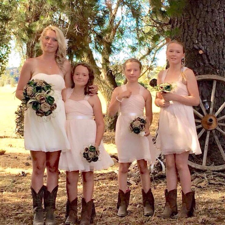 Country wedding with flax flowers and boots! www.flaxation.co.nz