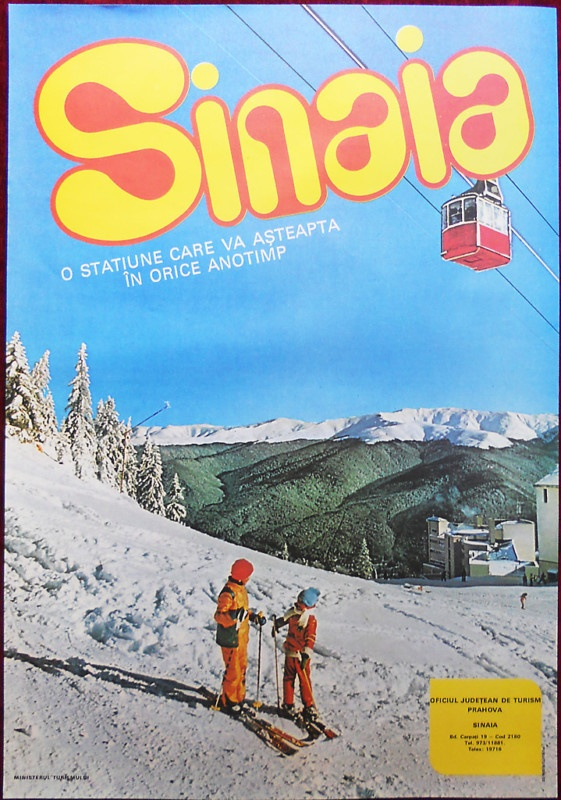vintage ski poster - Romania