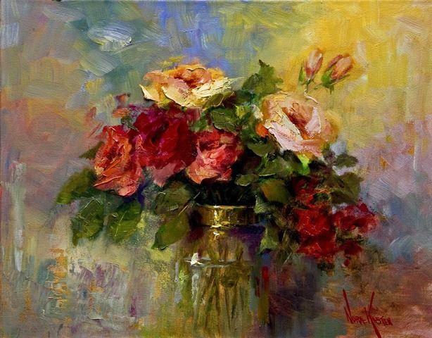 images of nora kasten paintings | ... quadros de pintura a óleo de Rosas em vasos pintados por nora Kasten