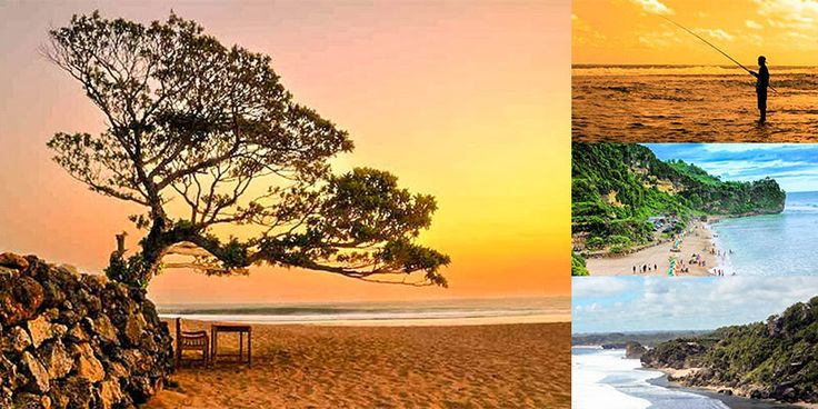 Pok Tunggal Beach is quite popular among other rows of beaches in Gunungkidul Regency, Yogyakarta. The beach is located in the Village Tepus,