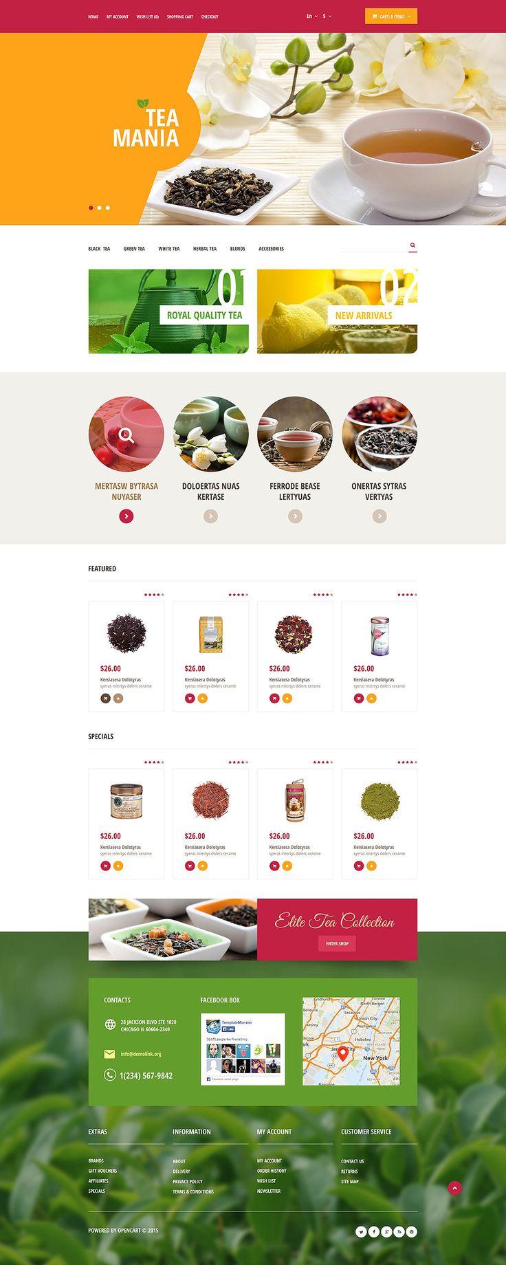 Tea Store #OpenCart #Responsive Template
