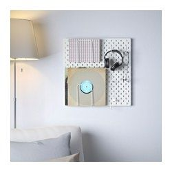 IKEA - SKÅDIS, Pegboard combination, You can use SKÅDIS pegboard and accessories to display your favourite things while keeping your home organised.The accessories are easy to fix anywhere on the board and are easy to move when you like.